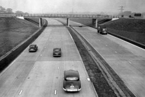 M1 motorway when built looking empty